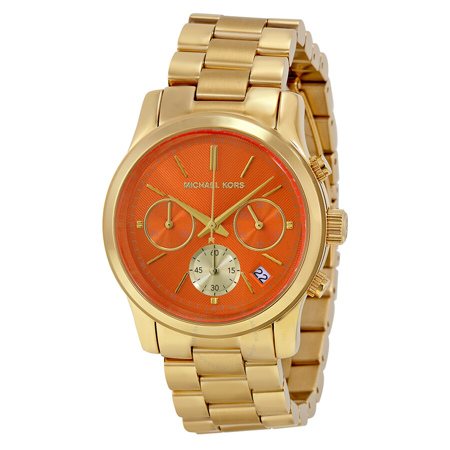 9f41798ffb3ec Michael Kors Women s MK6162 Runway Chronograph Gold-Tone Stainless Steel  Watch