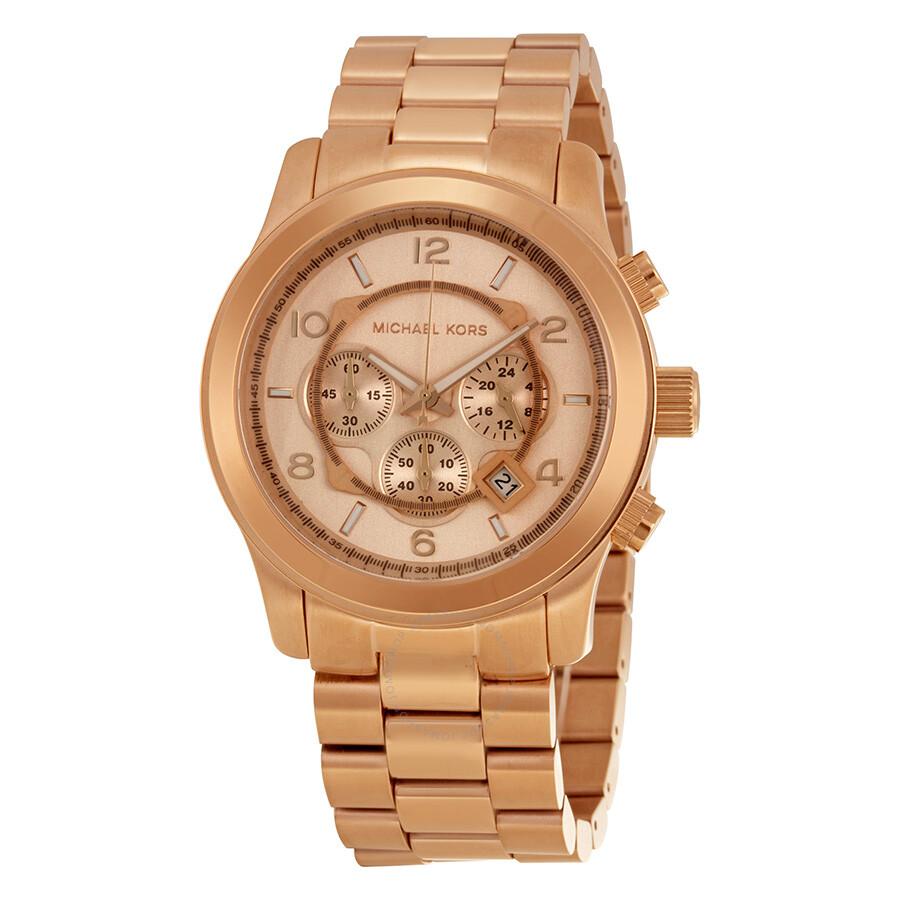 7195f4c042d6 Michael Kors Runway Chronograph Rose Gold-tone Men s Watch MK8096 ...