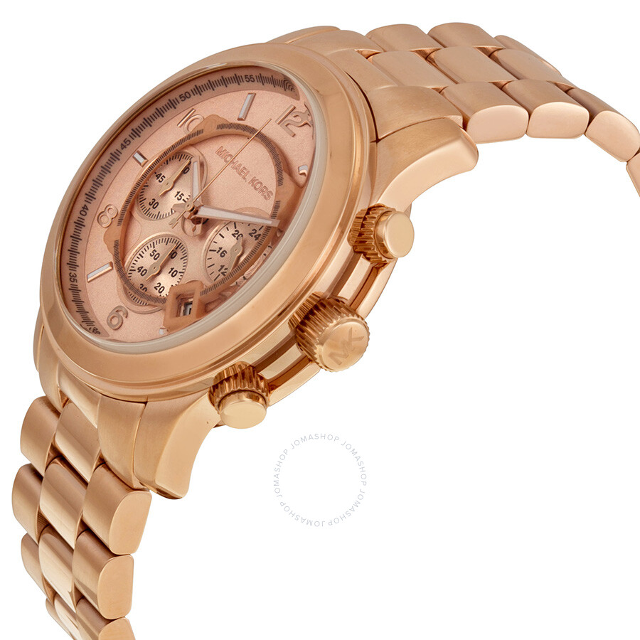 michael kors runway chronograph rose gold tone men 39 s watch. Black Bedroom Furniture Sets. Home Design Ideas