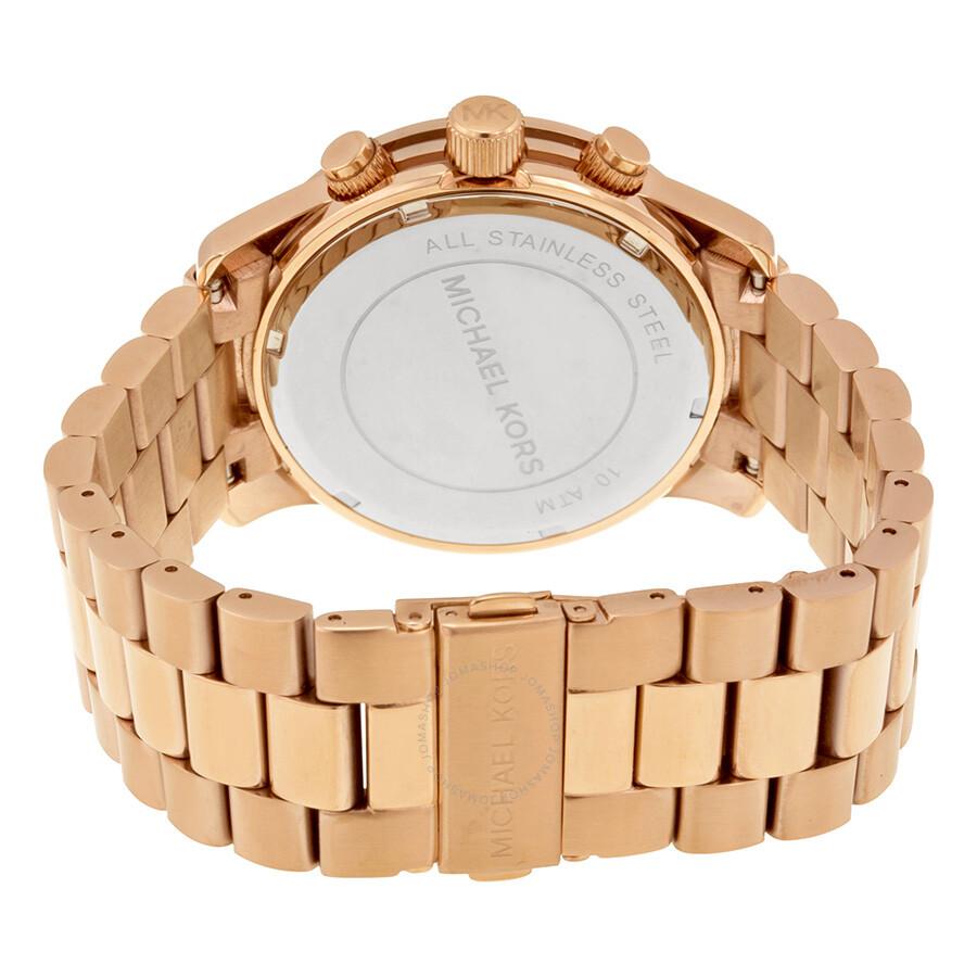 33f2ee0cc562 ... Michael Kors Runway Chronograph Rose Gold-tone Men s Watch MK8096 ...
