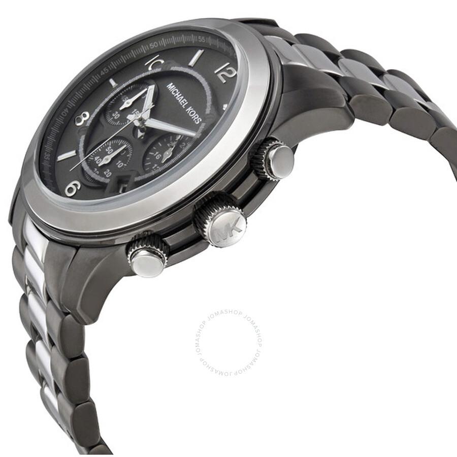 a10c23a009b Michael Kors Runway Chronograph Two-tone Men s Watch MK8182 - Runway ...