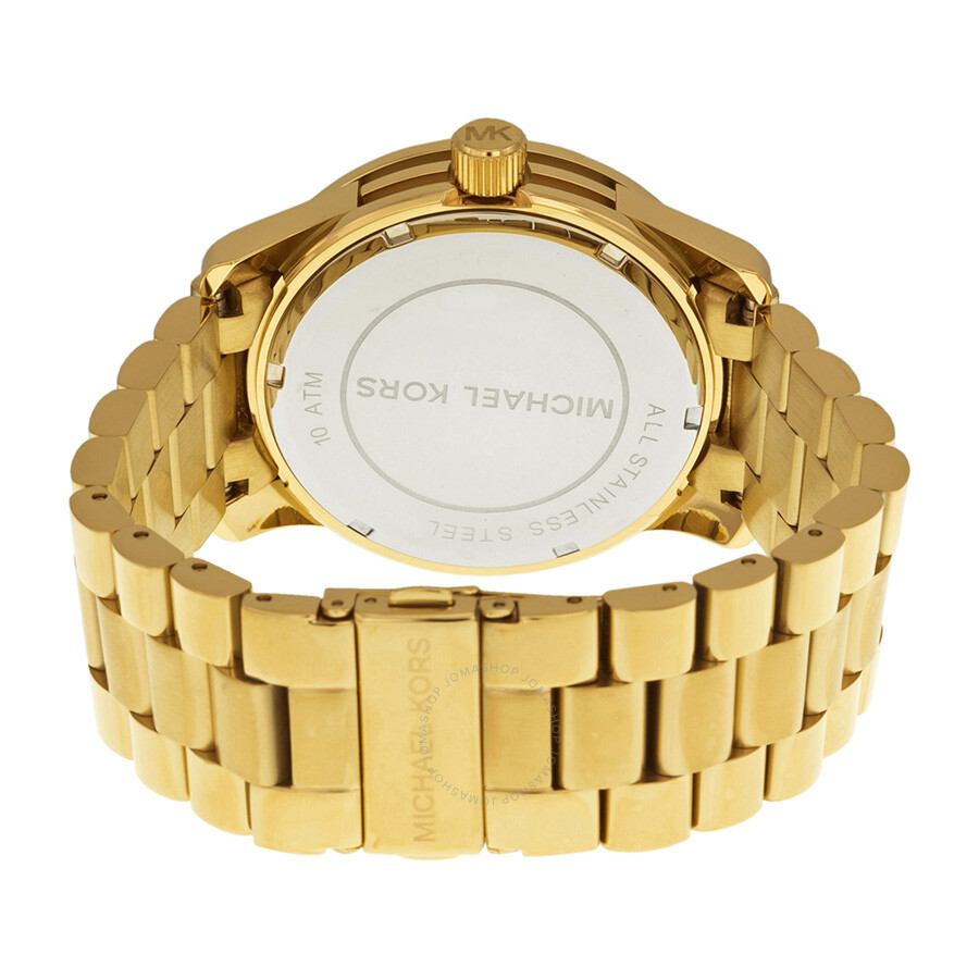 e55272c0cd39 ... Michael Kors Runway Gold Dial Crystal Pave Gold-tone Ladies Watch MK5706  ...