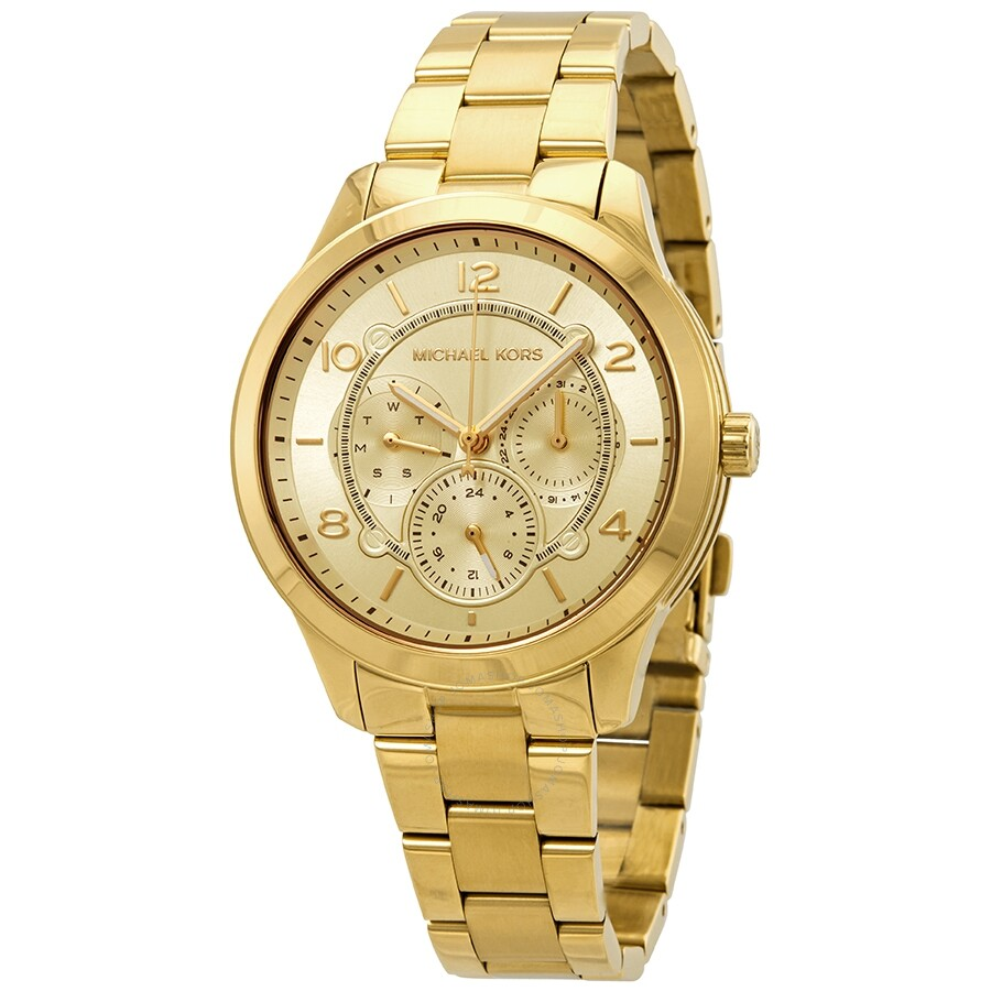Michael Kors Runway Gold Dial Ladies Watch MK6588