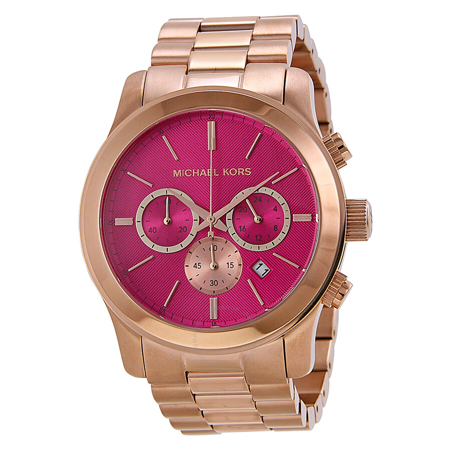 bbe6fbbe5d9a Michael Kors Runway Pink Dial Rose Gold-tone Ladies Watch MK5931 ...