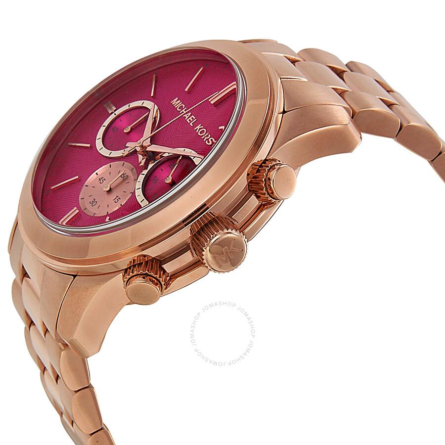 755b120fb365 ... Michael Kors Runway Pink Dial Rose Gold-tone Ladies Watch MK5931 ...