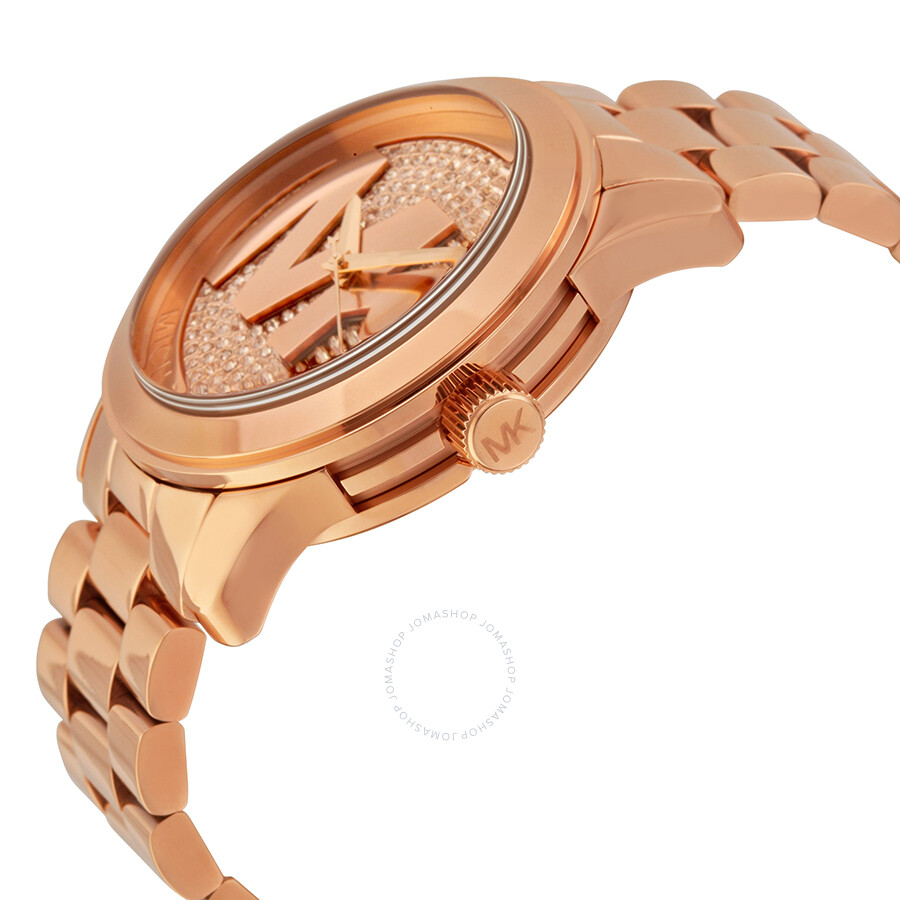 e1a0dd420885 ... Michael Kors Runway Rose Dial Rose Gold-plated Ladies Watch MK5661 ...