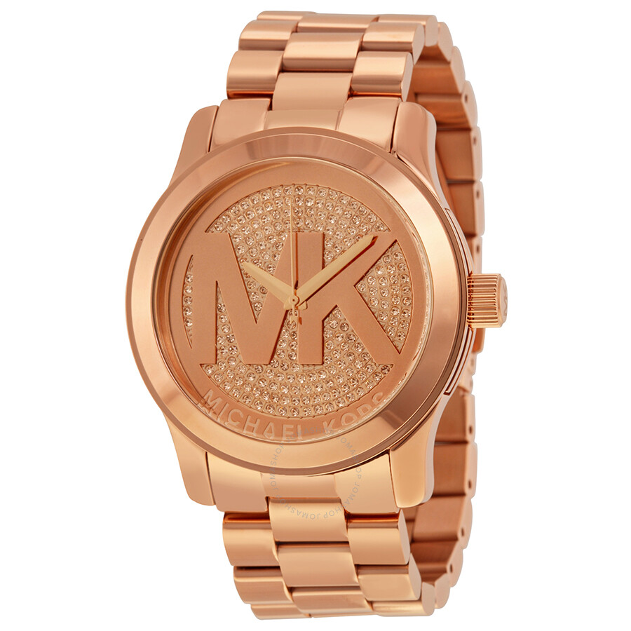 01f6b855d8ca Michael Kors Runway Rose Dial Rose Gold-plated Ladies Watch MK5661 ...