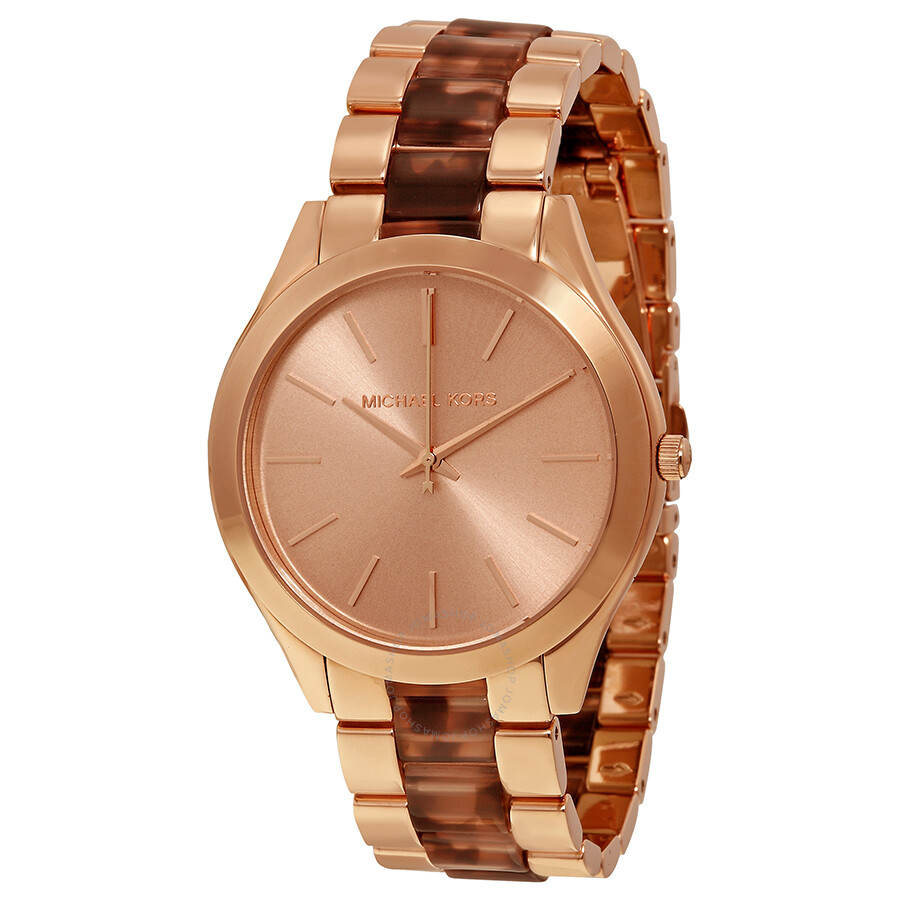 Michael Kors Runway Rose Gold Tone Stainless Steel Ladies Watch