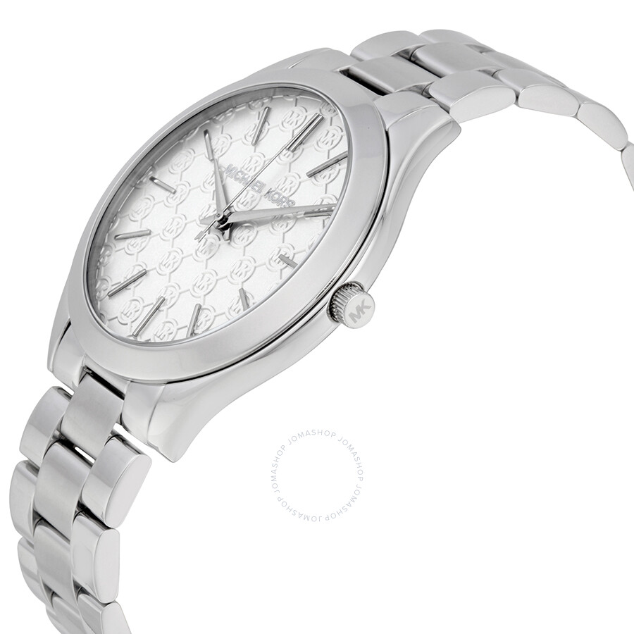 6185059dc973 ... Michael Kors Runway Silver Dial Stainless Steel Ladies Watch MK3371 ...