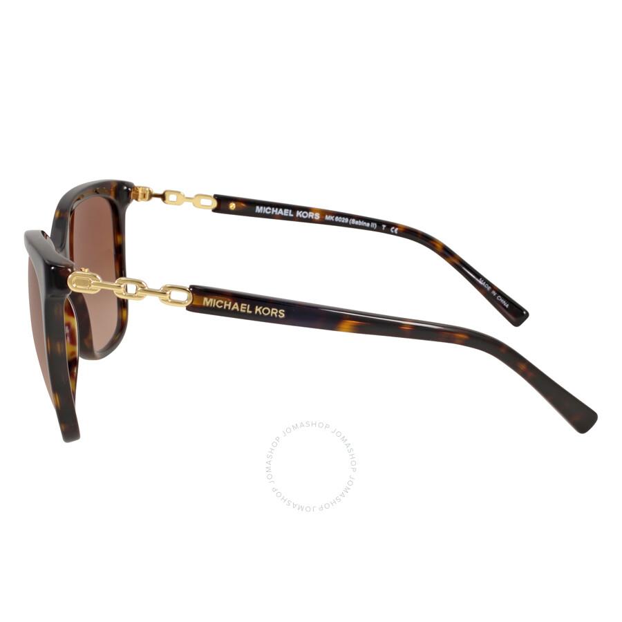 f96c4a1e0a95 ... Michael Kors Sabina Cat Eye Black Tortoise/Smoke Gradient Sunglasses  MK6029 310713 56-16 ...