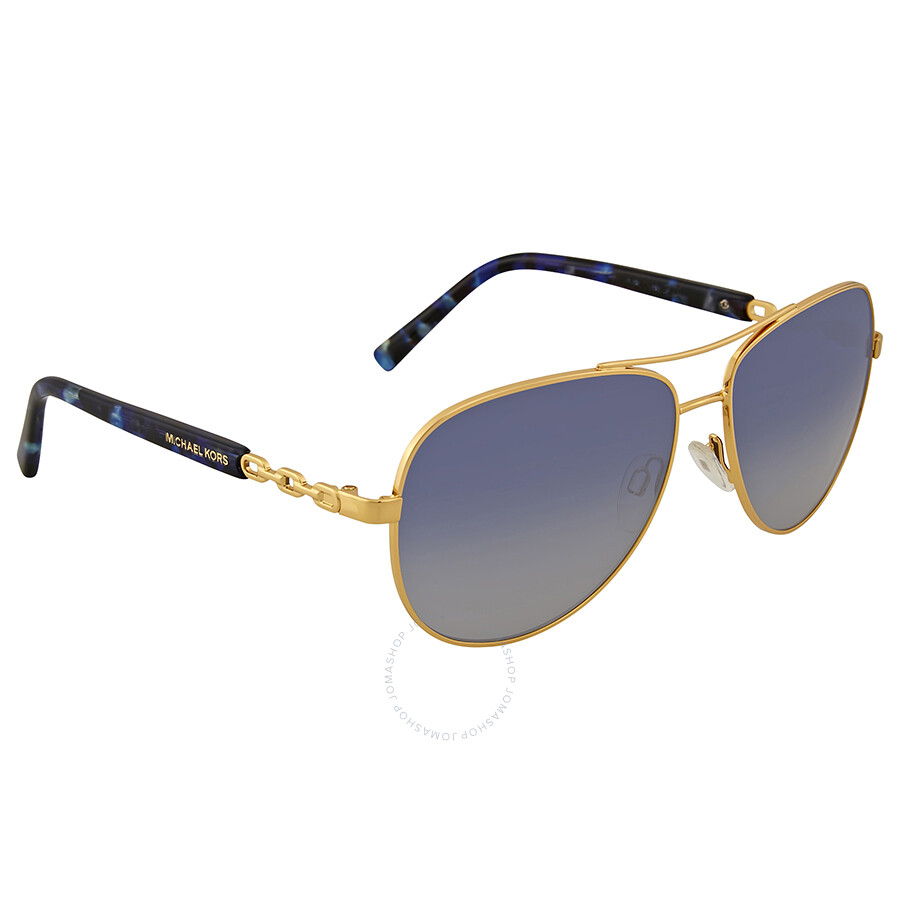 eef3f5f9a41a Michael Kors Sabina III Blue Gradient Aviator Sunglasses - Michael ...