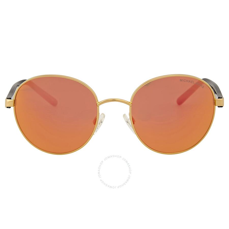 31c4c5db47d Michael Kors Sadie III Round Orange Mirrored Sunglasses Item No.  MK1007-10246Q-52