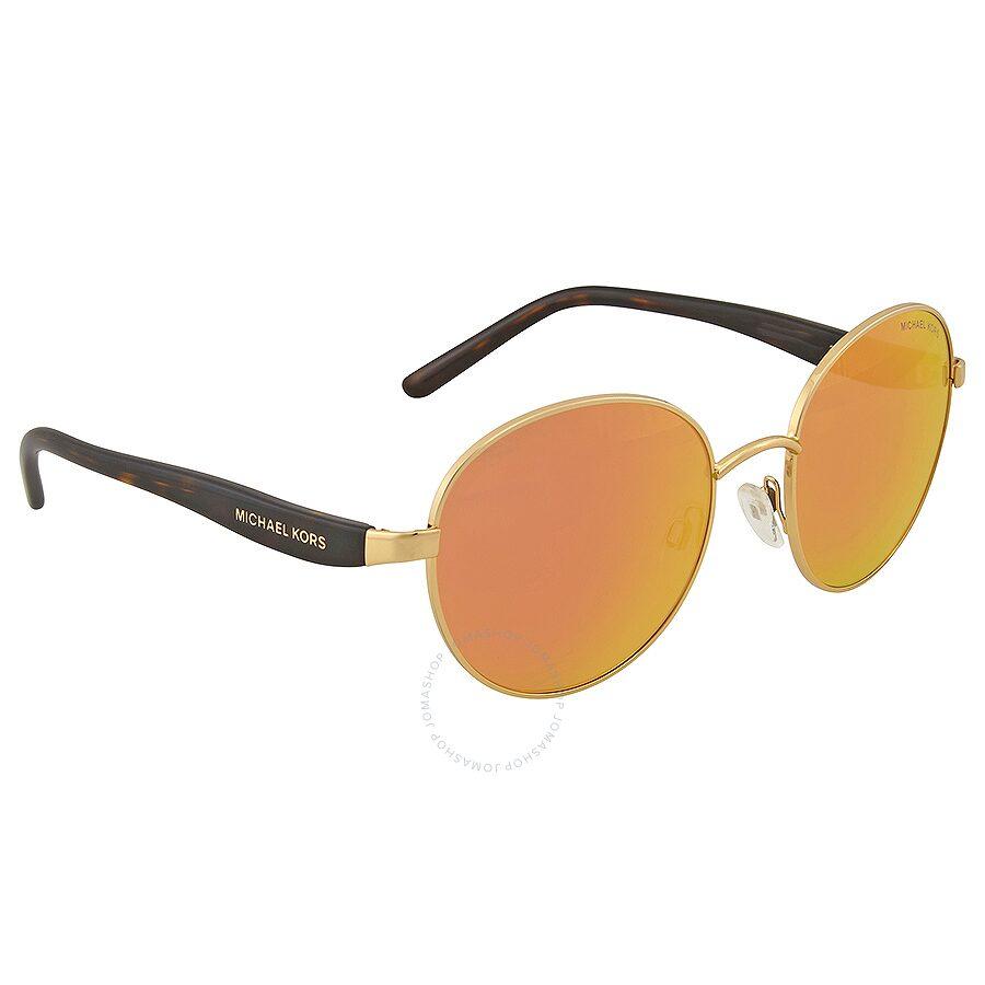acc464d9fdb Michael Kors Sadie III Round Orange Mirrored Sunglasses - Michael ...