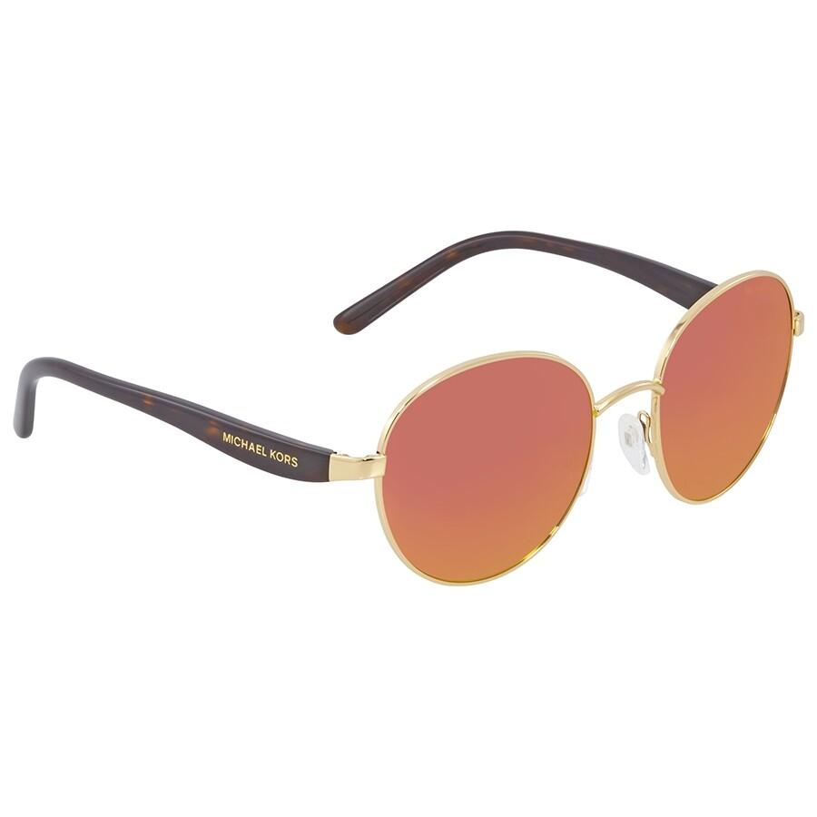 0021a100020f Michael Kors Sadie III Round Orange Mirrored Sunglasses Item No.  MK1007-10246Q-52
