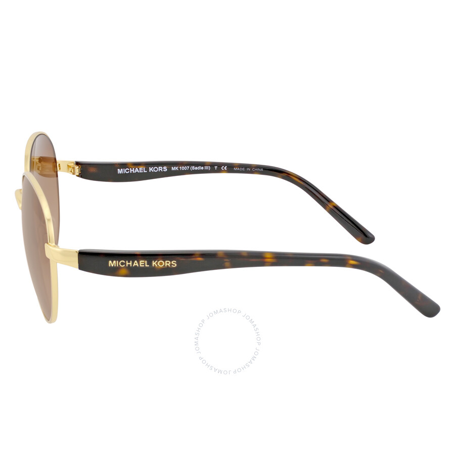 3934c66bbdf0 ... Michael Kors Sadie Round Gold/Smoke Gradient Sunglasses MK1007 100413  52-19 ...