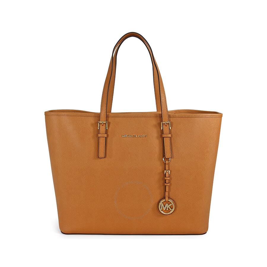 0141c0b305ea Michael Kors Saffiano Leather Medium Travel Tote - Peanut Item No.  30H1GTVT2L-198