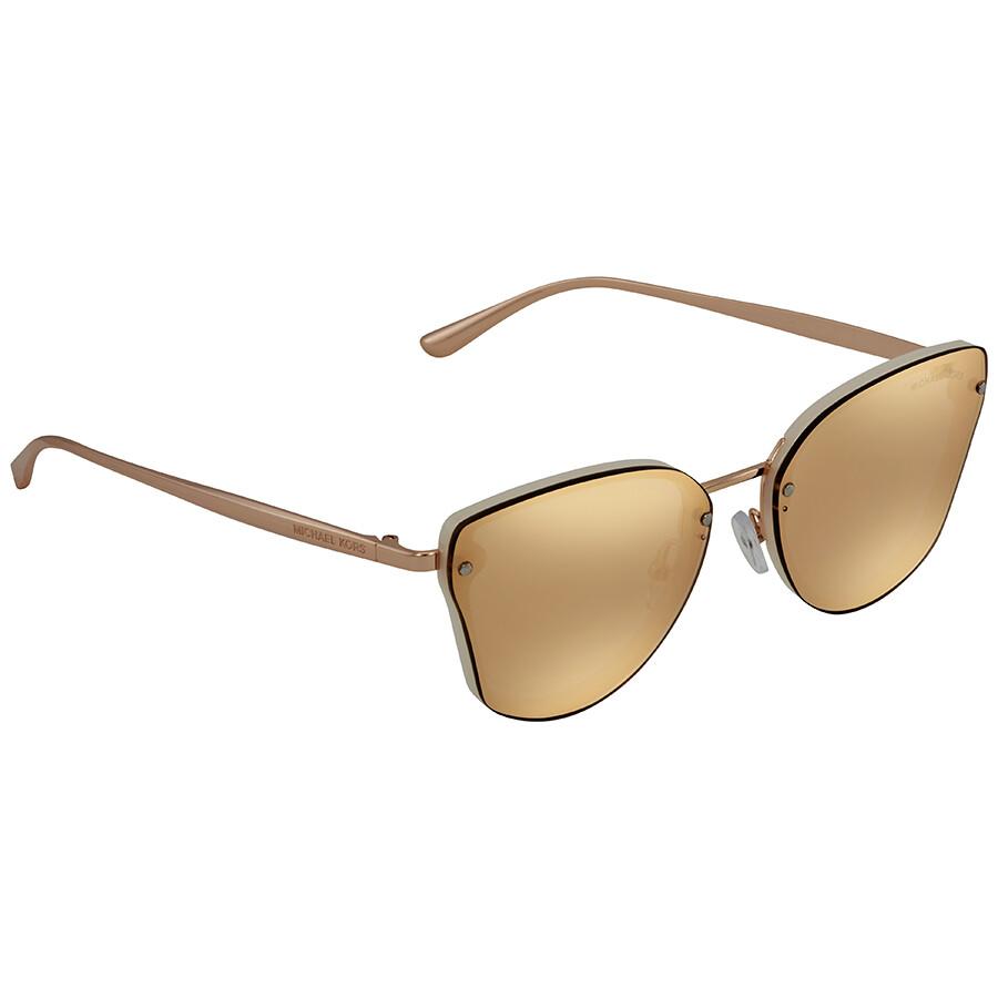 Michael Kors Sanibel Rose Gold Flash Cat Eye Ladies Sunglasses 0MK2068  3350R1 58