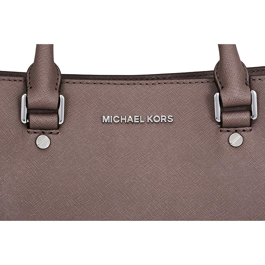 e698ac30a611 Michael Kors Savannah Medium Saffiano Leather Satchel - Cinder ...