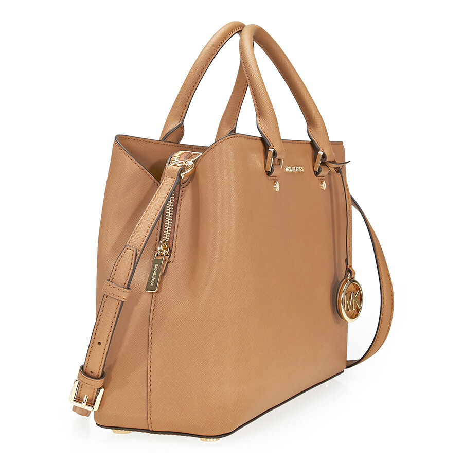Michael Kors Savannah Saffiano Leather Satchel Acorn