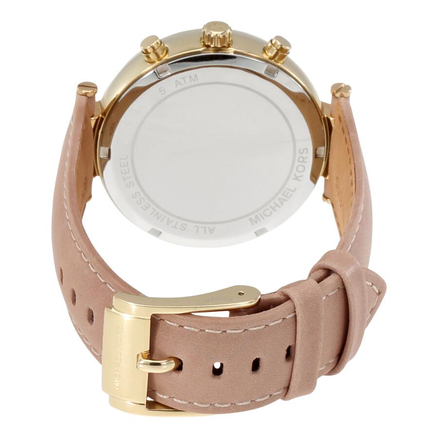 e835525c6bfd9 Michael Kors Sawyer Chronograph Rose Dial Ladies Watch MK2529 ...