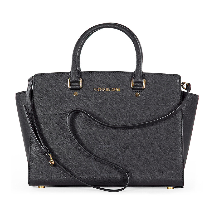 37d028eae1ff3 Michael Kors Selma Black Saffiano Leather Satchel - Selma - Michael ...