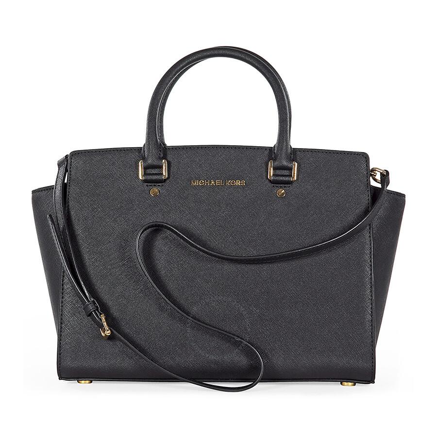 michael kors selma black saffiano leather satchel selma michael kors handbags handbags. Black Bedroom Furniture Sets. Home Design Ideas