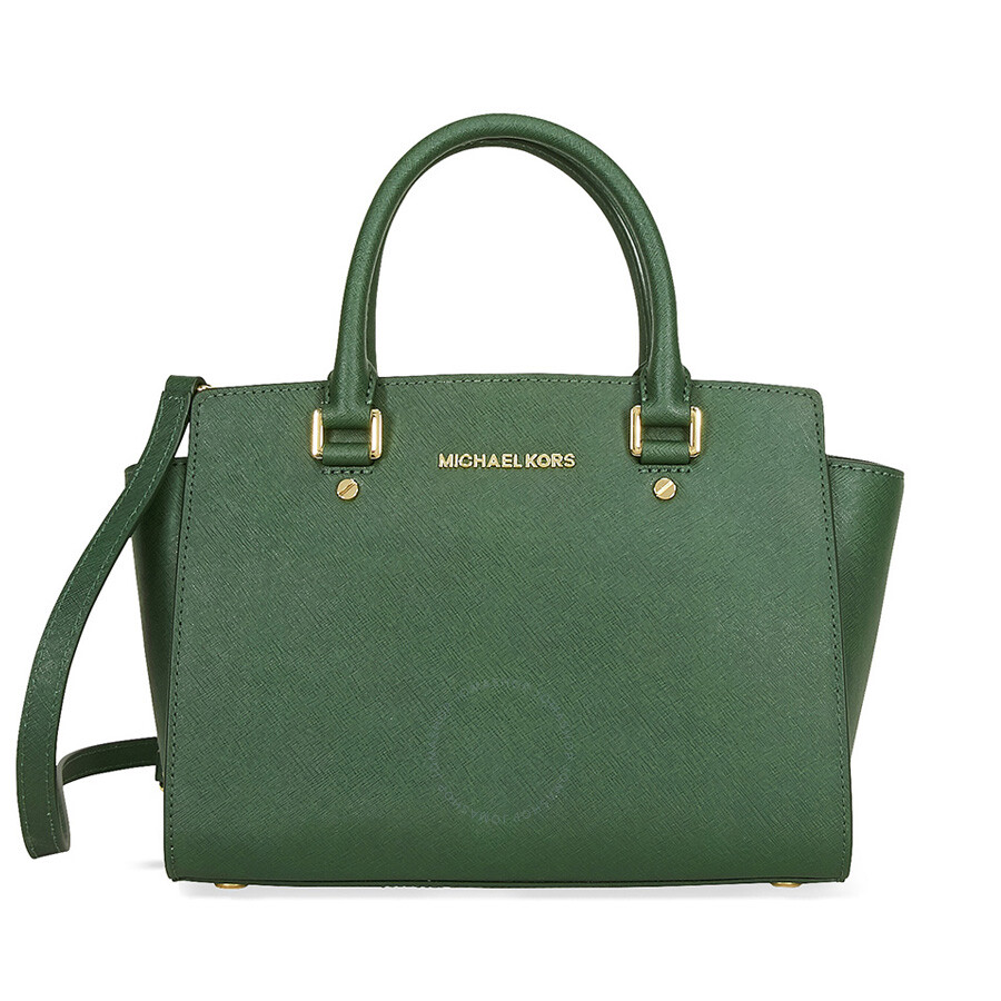 Michael Kors Laukkukoru : Michael kors selma leather satchel moss