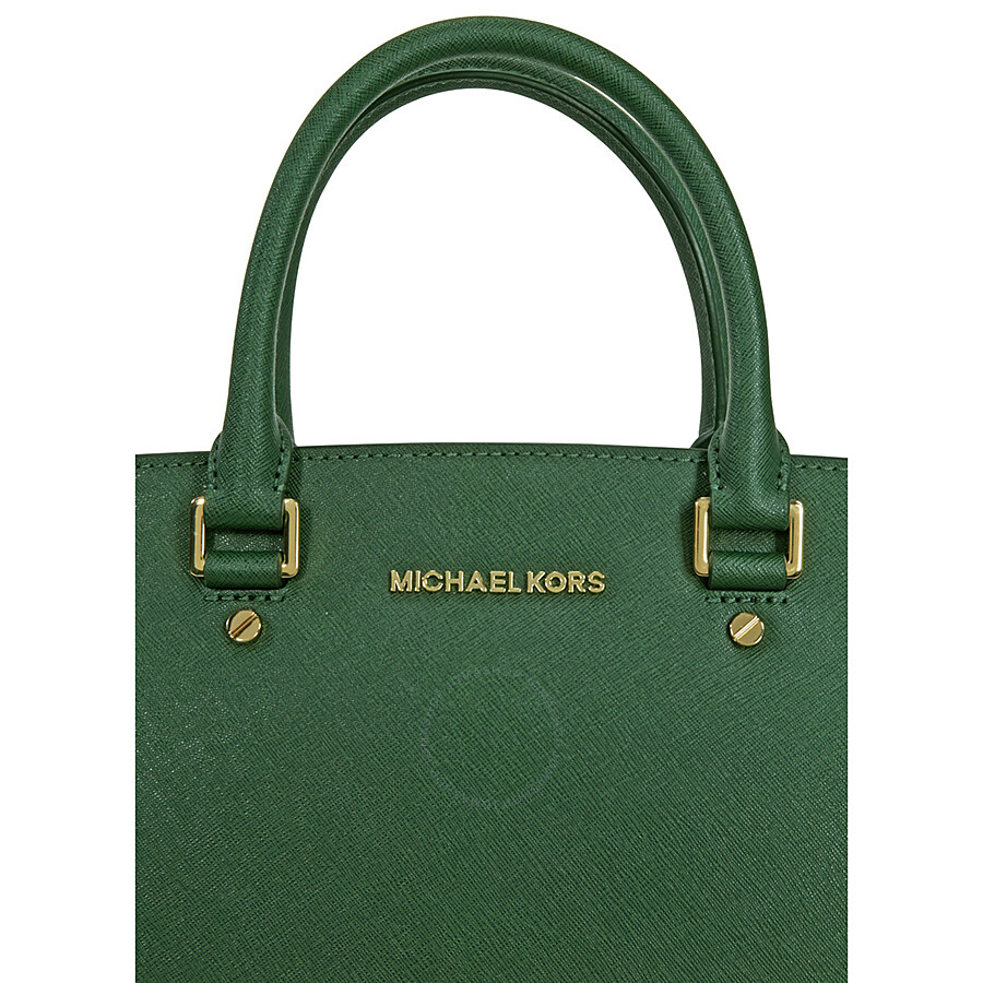 michael kors selma leather satchel moss selma michael kors handbags handbags jomashop. Black Bedroom Furniture Sets. Home Design Ideas