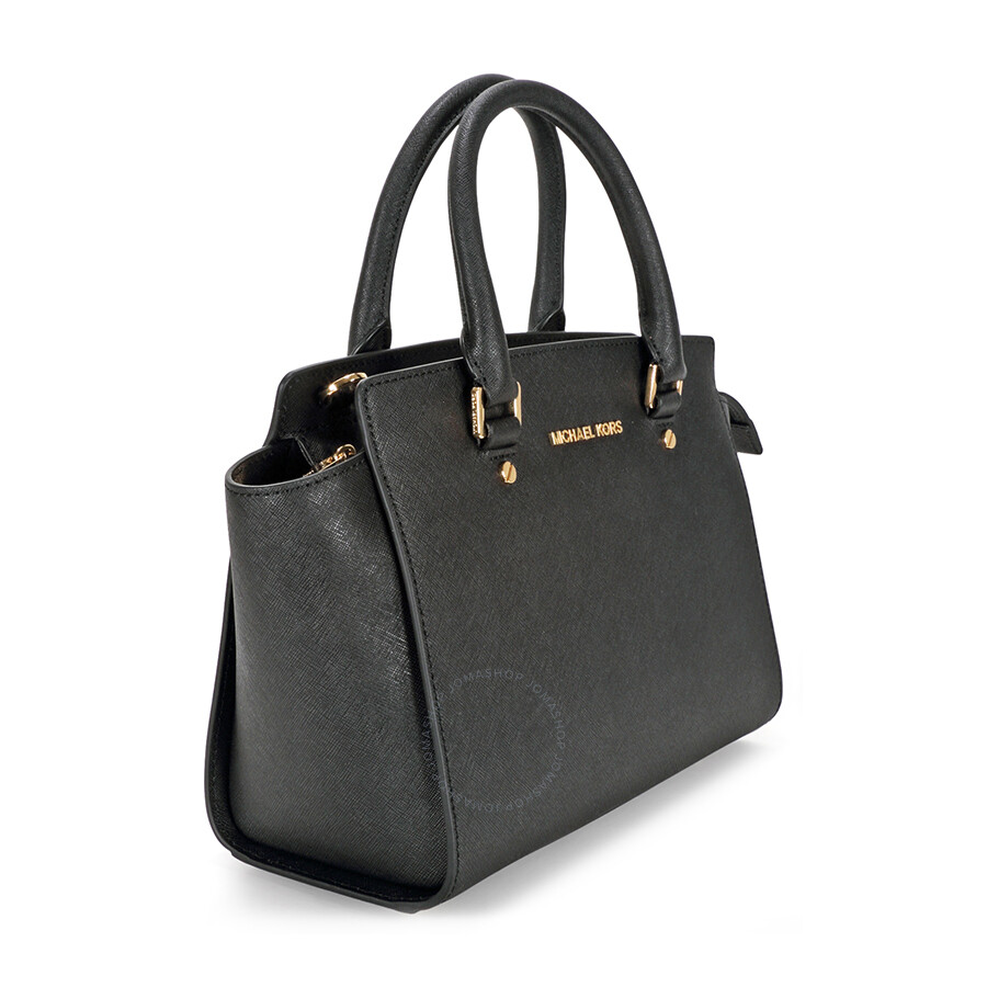 59963cb2f04d Michael Kors Selma Medium Leather Satchel - Black - Selma - Michael ...