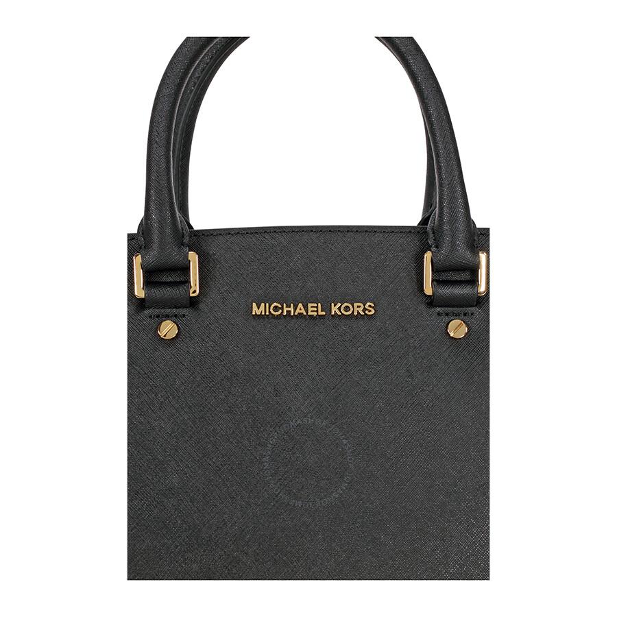 d4cb10fb07c5af Michael Kors Selma Medium Leather Satchel - Black - Selma - Michael ...