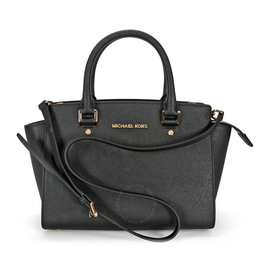 Michael Kors Selma Medium Leather Satchel - Black Item No. 30S3GLMS2L-001 54096796ad