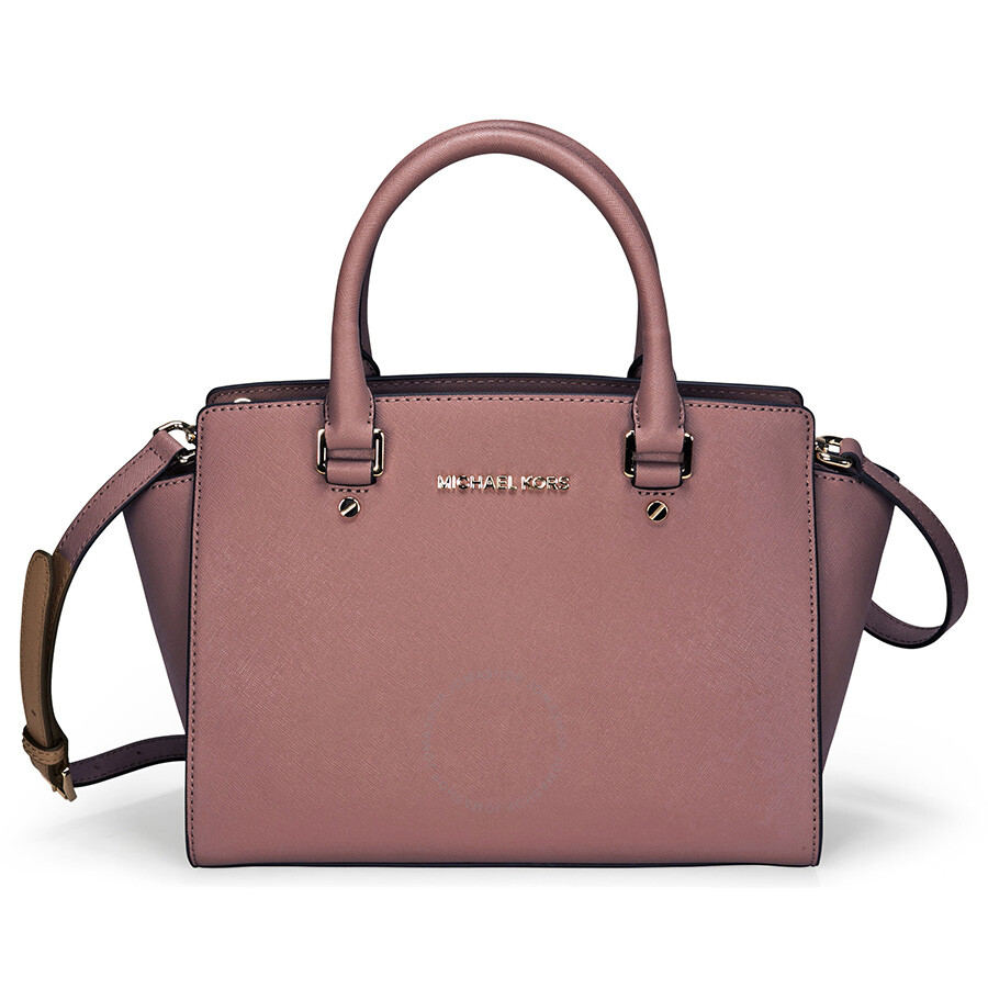michael kors selma leather satchel dusty rose selma michael kors handbags handbags. Black Bedroom Furniture Sets. Home Design Ideas