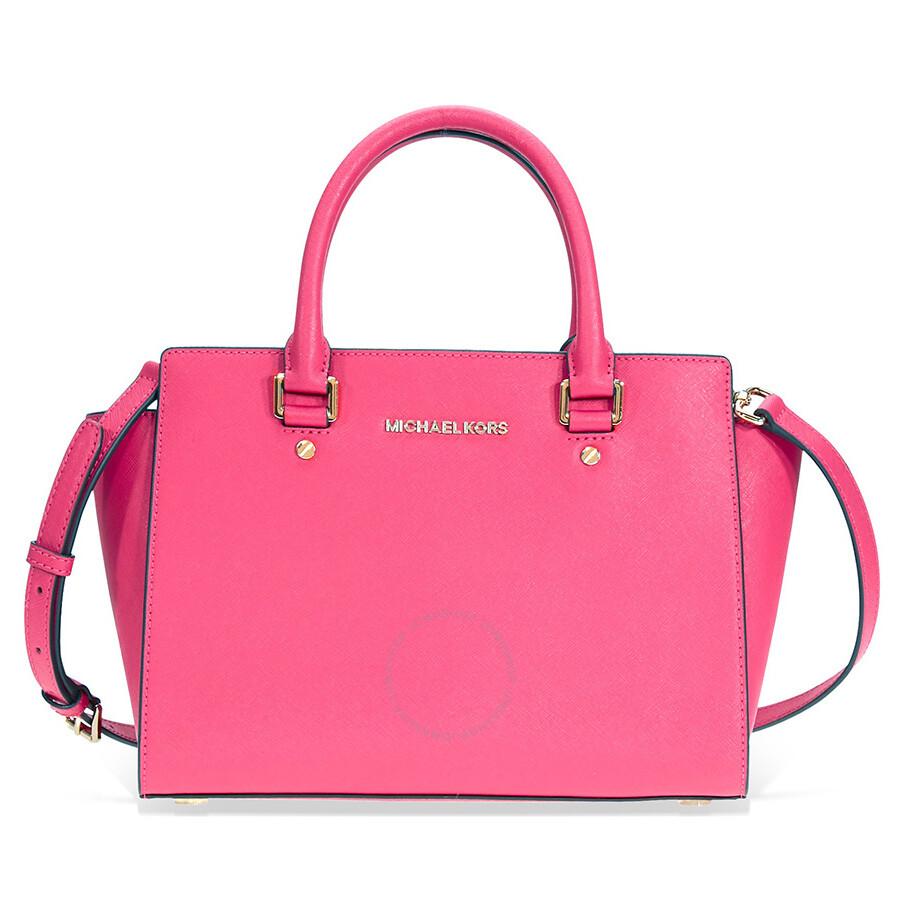 1b475dd68 Michael Kors Selma Medium Leather Satchel - Ultra Pink Item No.  30S3GLMS2L-564