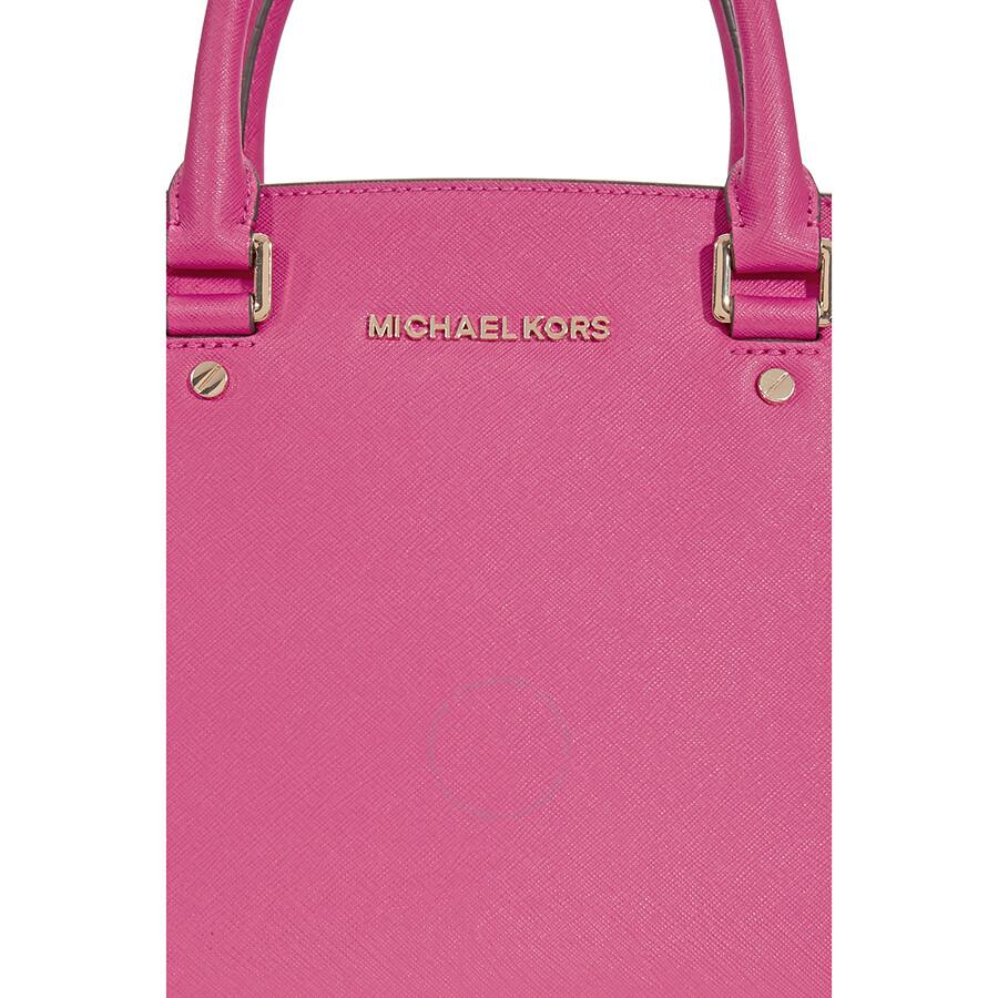 f8fae2ea8ab0ed Michael Kors Selma Medium Leather Satchel - Ultra Pink - Selma ...