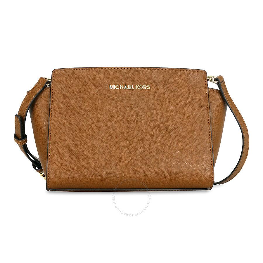 c8bef9134460 Michael Kors Selma Saffiano Leather Medium Messenger Bag - Luggage Item No.  30T3GLMM2L-230