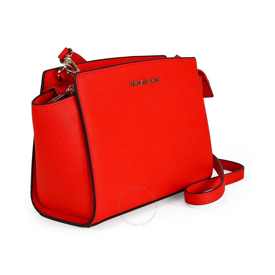 bff2e905ba8121 Michael Kors Selma Saffiano Leather Medium Messenger Bag - Mandarin ...