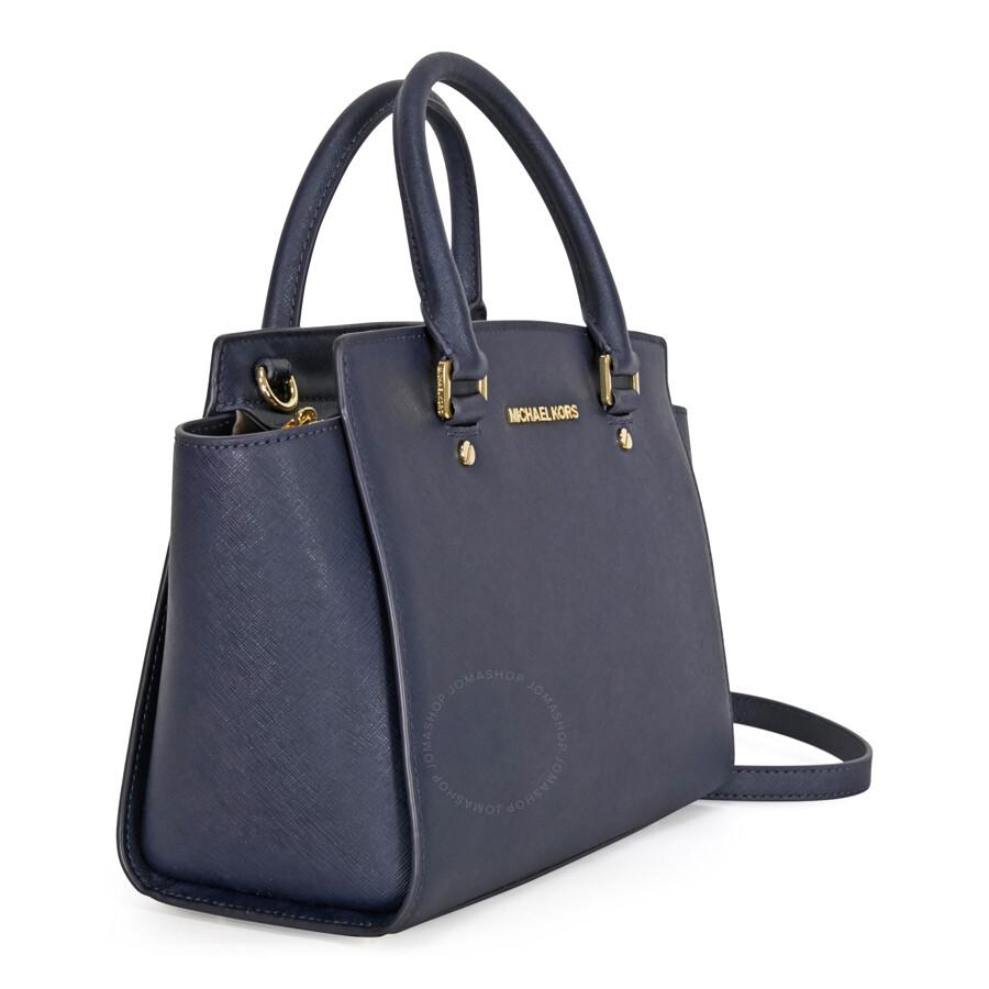 michael kors selma saffiano leather medium satchel admiral selma michael kors handbags. Black Bedroom Furniture Sets. Home Design Ideas