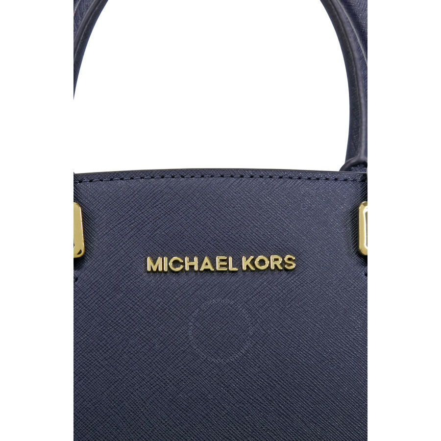 13ed42e975dd Michael Kors Selma Saffiano Leather Medium Satchel - Admiral - Selma ...