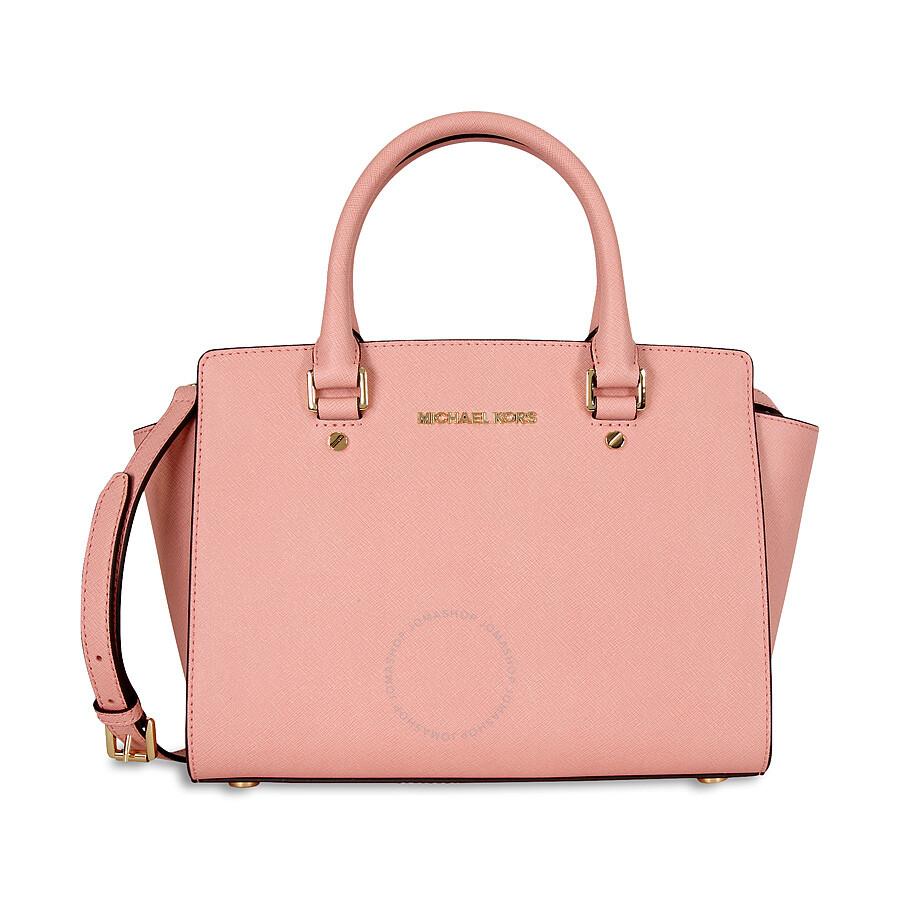 3bbfdee15d7be4 Michael Kors Selma Saffiano Leather Medium Satchel - Pale Pink ...