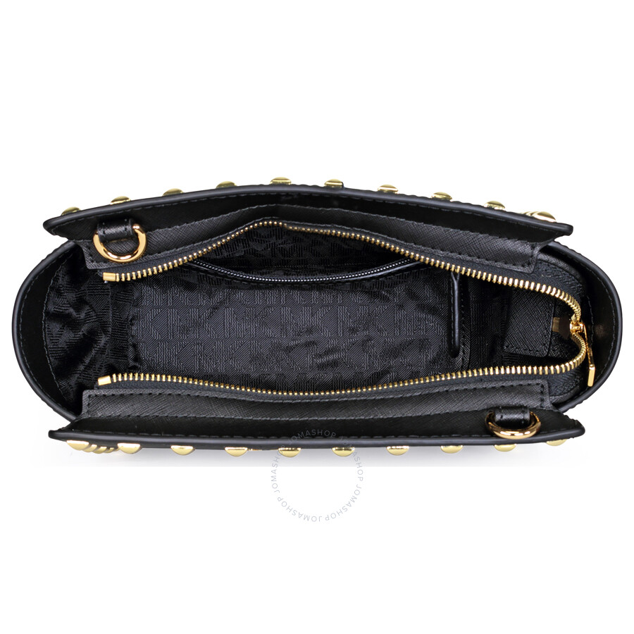 3500107bae2e Michael Kors Selma Stud Leather Medium Messenger Bag - Black - Selma ...