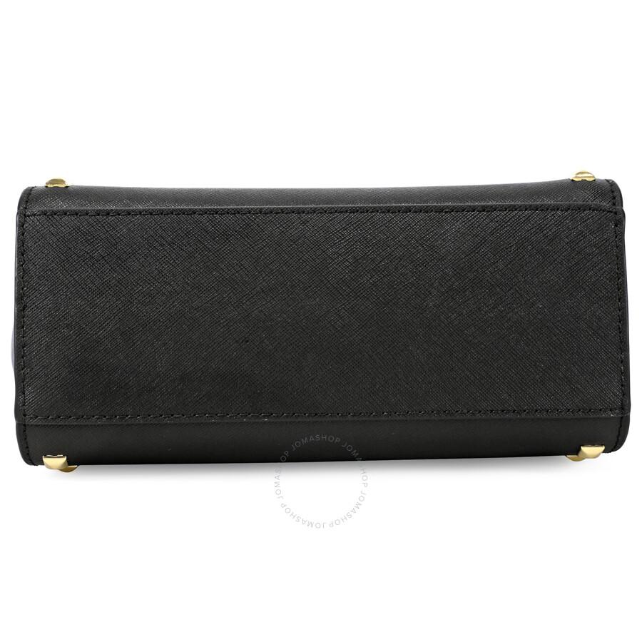e07edc07528c Michael Kors Selma Stud Leather Medium Messenger Bag - Black - Selma ...