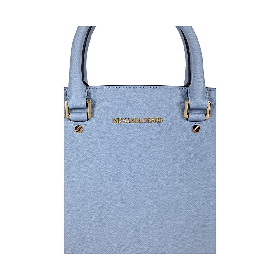 1e3e0bbfc471 Michael Kors Selma Top Zip Satchel Handbag - Pale Blue - Selma ...