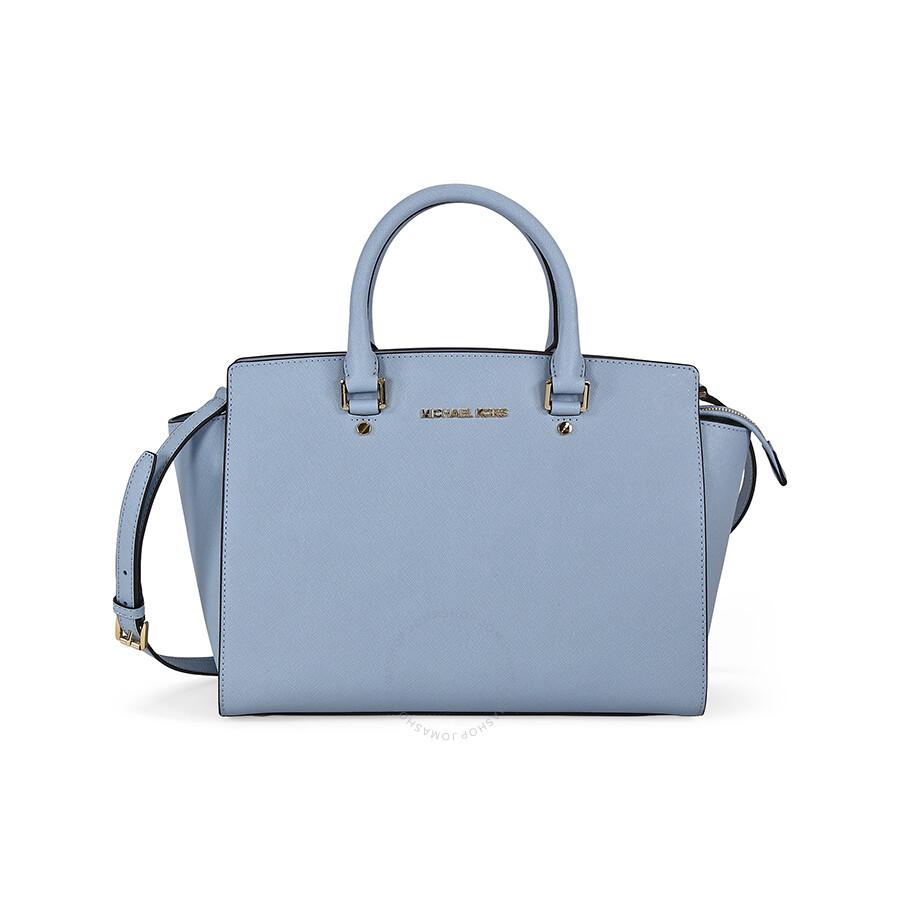 6a8036e4bab12d Pale Blue Michael Kors Handbags | Stanford Center for Opportunity ...
