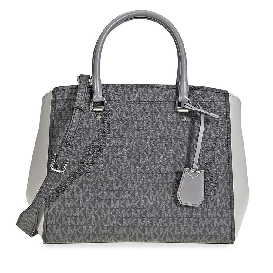 25ba1558cdb4c7 Michael Kors Benning Signature Logo Print Tote Bag - Grey Item No.  30F8SN4S3B-864