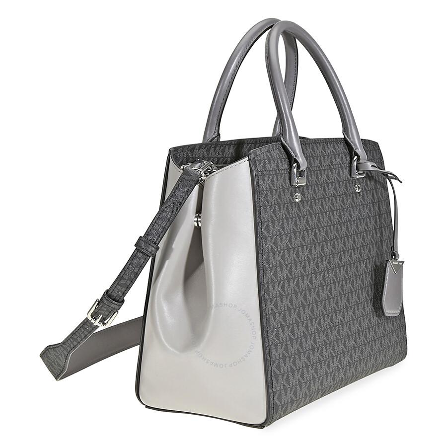 d9d0644578a Michael Kors Benning Signature Logo Print Tote Bag - Grey - Michael ...