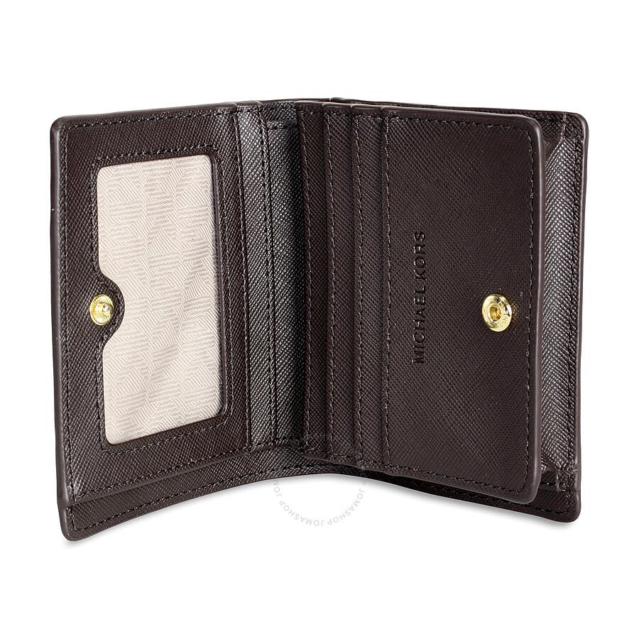 a9c37511f9f6 Michael Kors Signature Mini Wallet   Card Holder - Brown - Michael ...
