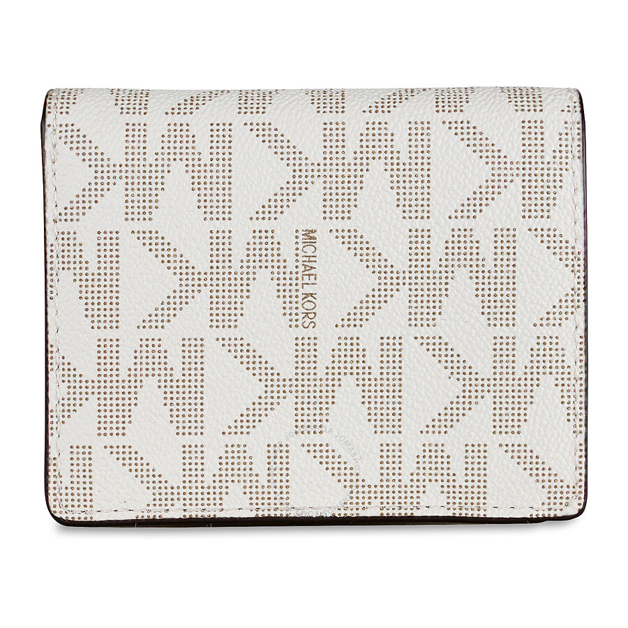a43970af747e3c Michael Kors Signature Mini Wallet / Card Holder - Vanilla Item No.  32F4GLSF1B-150