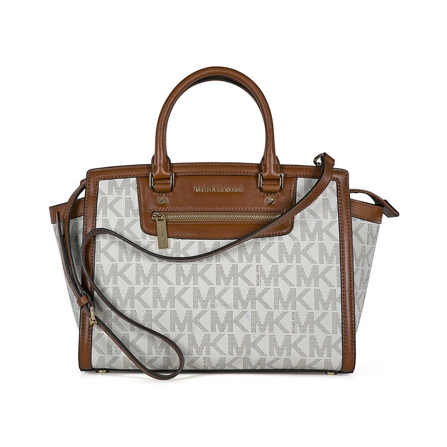 Michael Kors Signature Vanilla PVC Tote Handbag - Selma ...