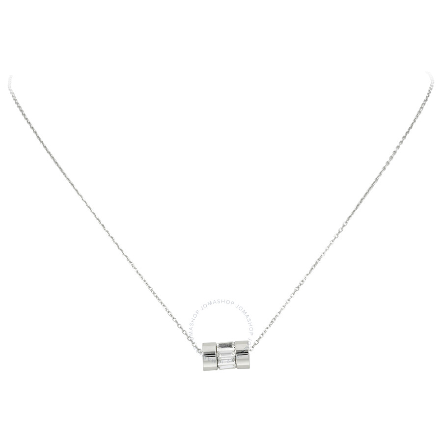 4ebe0f3e77443 Michael Kors Silver-Tone Cylinder Pendant Necklace MKJ4950040