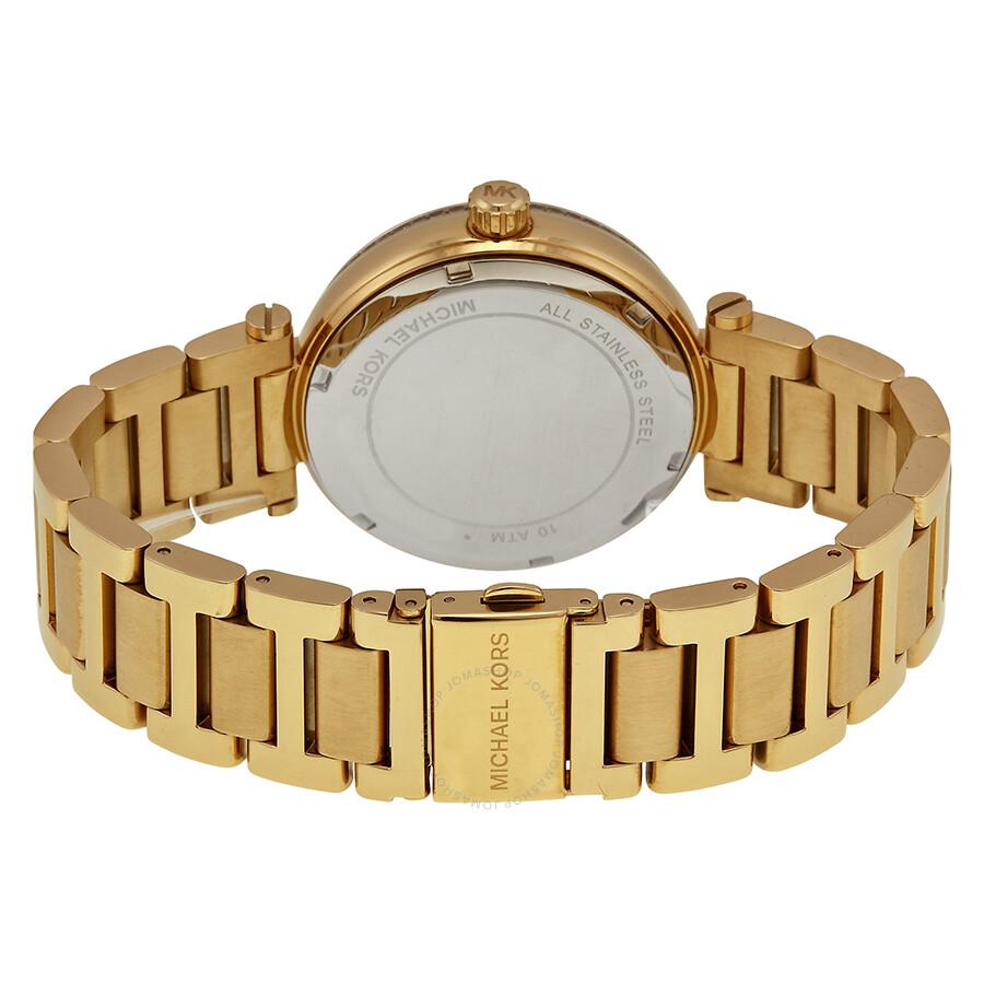 f5ce2c43882f ... Michael Kors Skylar Black Dial Gold-tone Ladies Watch MK5989 ...